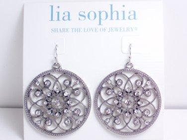 garlicfashion DIY handmade women fashion Memoir earrings loops flower silver CZ earrings