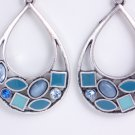 garlicfashion DIY handmade women fashion Atlantis blue enamal earrings