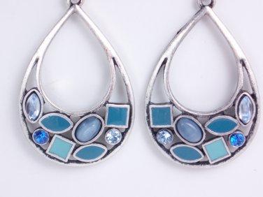 garlicfashion DIY handmade women fashion Atlantis blue enamal earrings