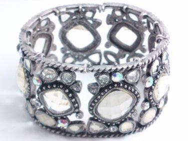 garlicfashion DIY handmade women fashion After Party transparent CZ vintage bracelet