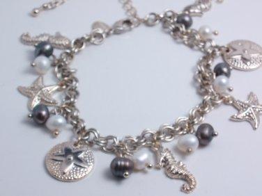 garlicfashion DIY handmade women fashion *under the sea* charm bracelet