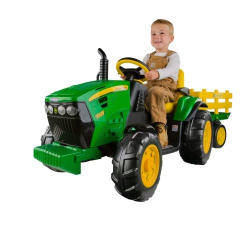 NEW! John Deere Ground Force Kid's Tractor with Trailer