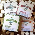 Wondermade Boozy Marshmallow Set (Contains 4 Varieties-Bourbon, Fireball, Gin & Beer)