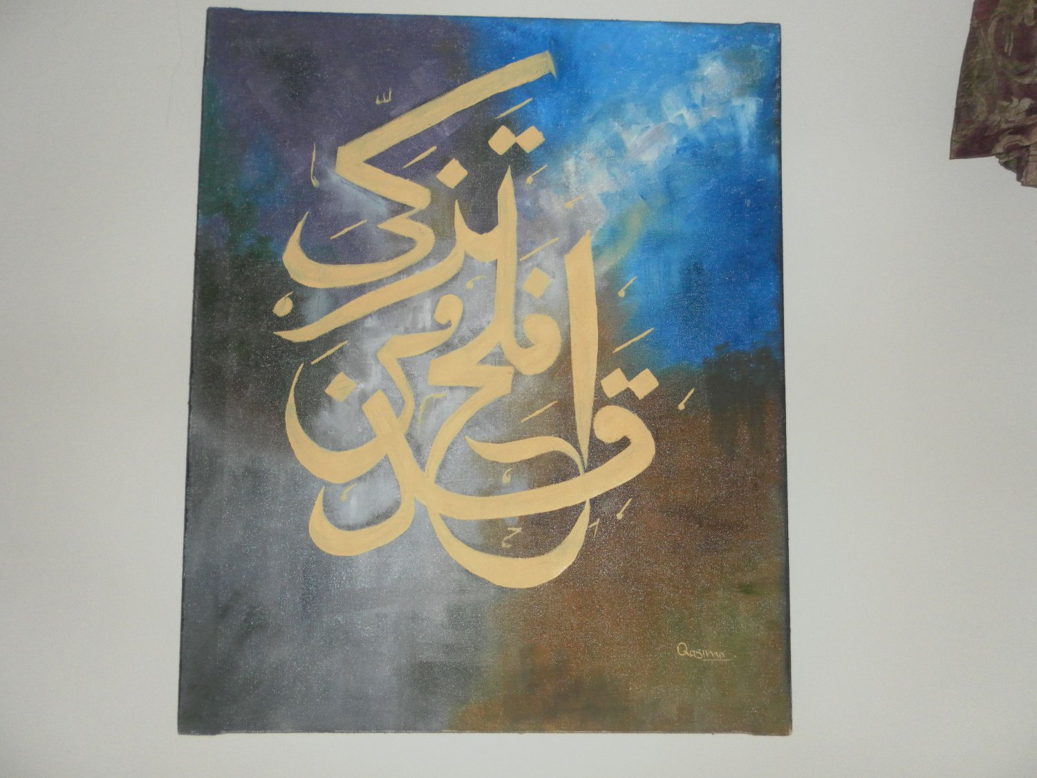 calligrapy oil painting