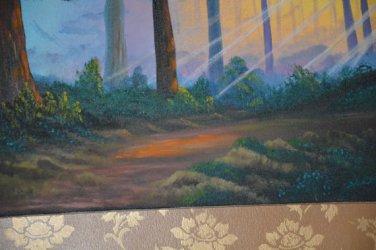 sun rays oil painting