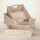 Baskets with Bamboo Handles-3 pc.