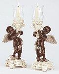 African American Cherub Candle Holders
