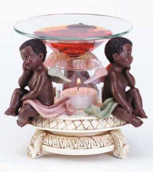 African American Cherub Oil Warmer