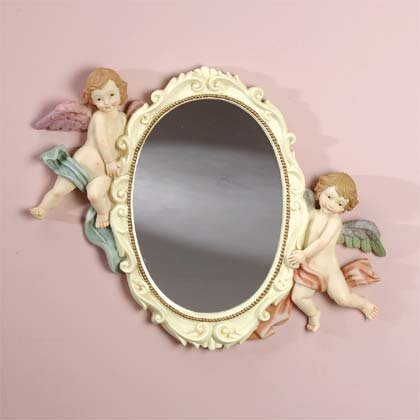 Cherubs Oval Wall Mirror