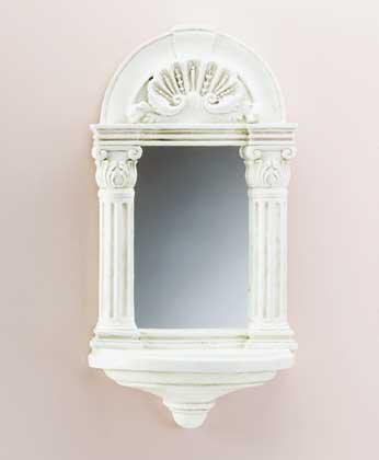 Greek Columns Mirror with Shelf