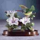 Porcelain Hummingbird at Flower