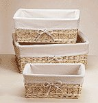Willow Baskets with Lining-3 pc.