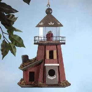 Wood Lighthouse Birdhouse (Brown)