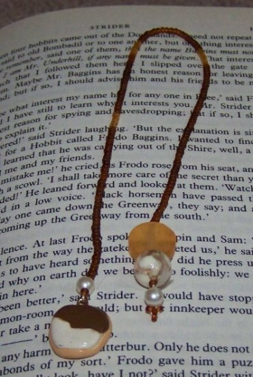 """9"""" Beaded Bookmark With Cookie Charm"""