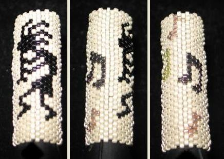 Kokopelli Dreadlock Bead - peyote stitch