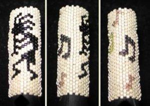 Kokopelli Dreadlock Bead - peyote stitch