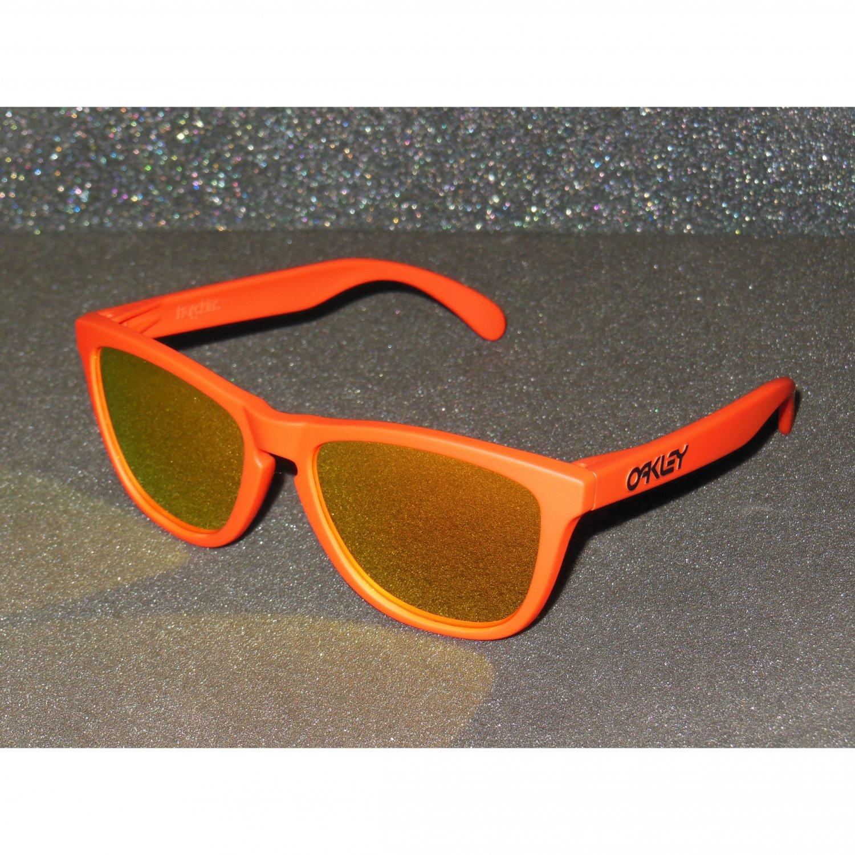 Oakley Frogskins Retro Sunglasses Summit Edition Mesa Orange/Fire Iridium