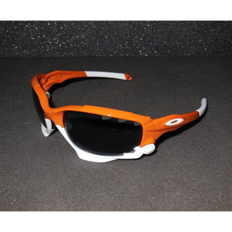 Oakley Racing Jacket Sunglasses Team Burnt Orange/Grey Cycling/Sport