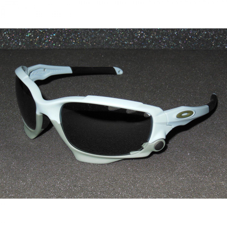 Oakley Racing Jacket Sunglasses GP 75 Matte Blue Ice/Black Iridium, Clear