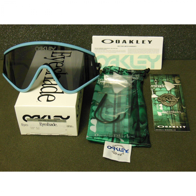 Oakley Eyeshade Heritage Collection Retro Sunglasses, Blue/Grey