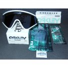 Oakley Eyeshade Heritage Collection Retro Sunglasses, White/Grey