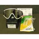 Oakley Eyeshade Tour de France Collection Retro Sunglasses, White/Black Iridium