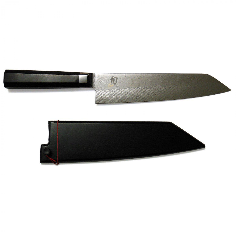 "Shun Dual Core 8"" Kiritsuke Knife with Saya, VG0017"