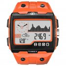Timex Expedition WS4 Watch T49761 Orange Altimeter Compass Barometer