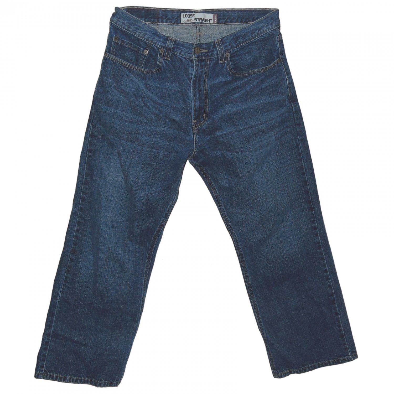 Rare Original Cut pre-2010 Levis 569 Mens Jeans 32 x 30 Dark Chipped 005690041
