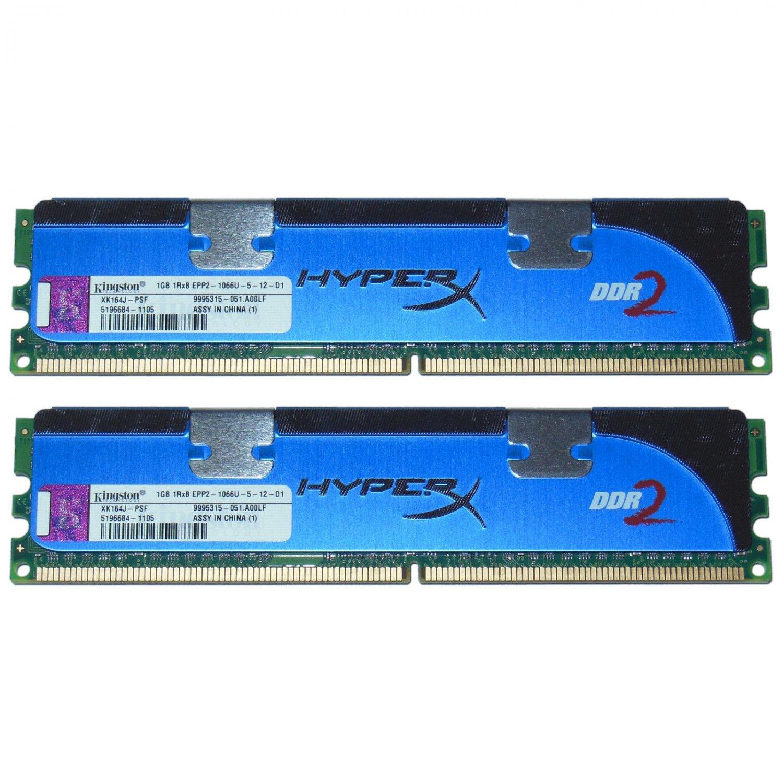 OEM Kingston HyperX XK164J-PSF 2GB (1x2) 1066Mhz DDR2 RAM PC2-8500U 240-Pin