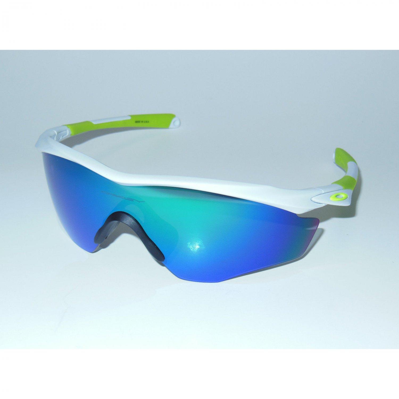 Oakley M2 Frame XL Sunglasses Polished White/Jade Iridium