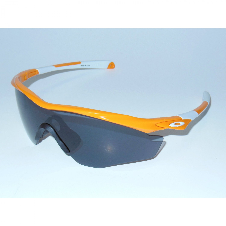 Oakley M2 Frame XL Sunglasses Atomic Orange/Grey
