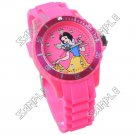 Cute Cartoon Patterned Quartz Wrist Watch with Silicone Band + Luminous Markers Hands for Children