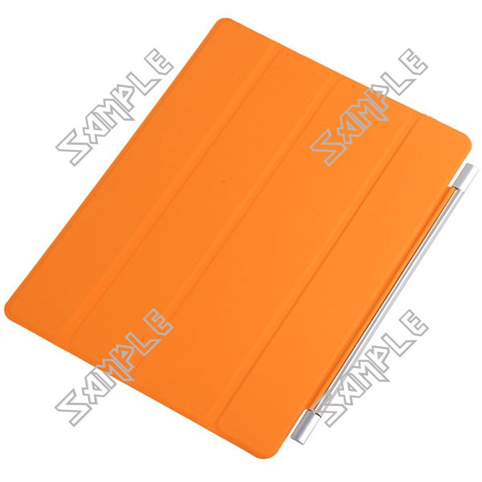 Wake-Up/ Sleep Smart Cover Case Shell Protector for Apple iPad 2 2nd - Orange