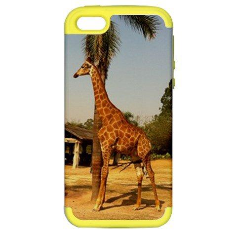 Custom Apple iPhone 5 Hardshell Case (PC+Silicone) Yellow
