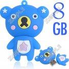 Cute Bear Shaped USB 2.0 Jump Flash Memory Drive U Disk Stick - 8GB