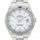 Rolex Datejust 16264 Stainless Steel White Dial Turn-O-Graph Watch