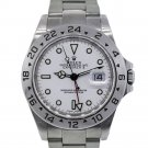 Rolex Explorer II 16570 Stainless Steel White Dial Watch