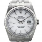 Rolex Datejust 16220 Stainless Steel White Dial Men's Watch
