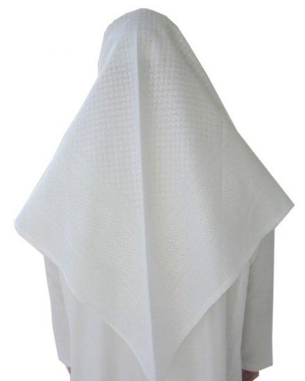 White on White Saudi Renaih Shemagh / Kufiya / Kafiya / Arab Scarf