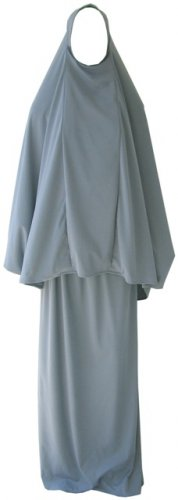 Grey Hijab & Skirt / Prayer Outfit / Abaya