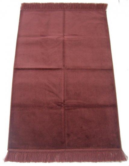 Desert Rose Islamic Prayer Rug, One-Coloured, Plain