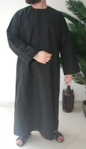 Black Emirates Gandoura / Dishdash / Thob / Kameez