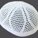 White Kufi / Taqiya Diamond Design