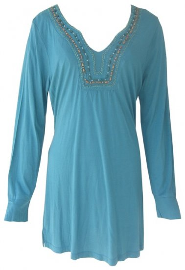 Turquoise Indian Kaftan / Tunic