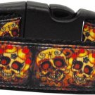 NEW SKULL LOVE Size Medium Dog Collar