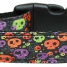 NEW COLORFUL SKULLS Size Med Dog Collar