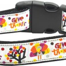 Dog Collar GiVe THaNKS  SIZE LARGE