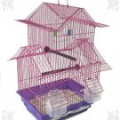 "SALE MULTI BIRD HOUSE KIT 18"" H x 11.25 W FOR PARAKEET FINCHES PINK"