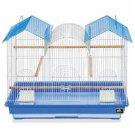 "NEW Large Bird Cage Kit 22.5"" H x 26"" W Blue and White"
